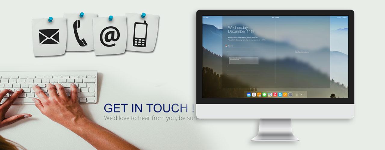 DKREATIVE Web Design Contact Banner