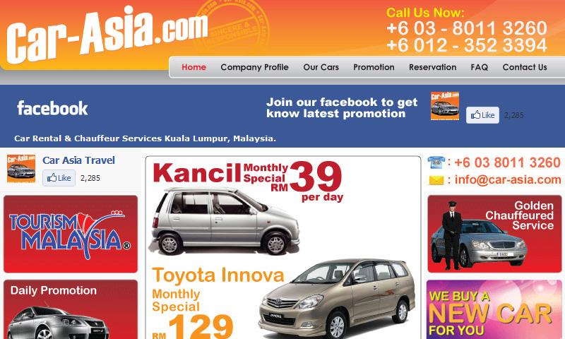 Car Asia Car Rental & Chauffeur Services Malaysia