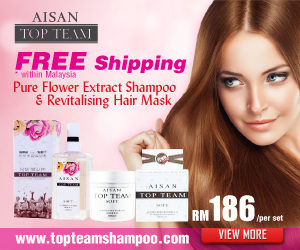 Aisan Top Team Hair Care Shampoo Malaysia - Natural Silicone Free Hair Shampoo & Hair Mask Conditioner